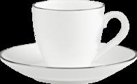 Espresso šálka 0,10 l s podšálkou Anmut Plat. No.1