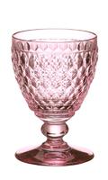 Ružový pohár na biele víno Boston Coloured