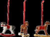 Závesné ozdoby koníkovia, 3 ks Nost. Ornaments