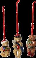 Závesné ozdoby mackovia, 3 ks Nost. Ornaments