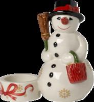 Svietnik, stojaci snehuliak 13 cm Christmas Light