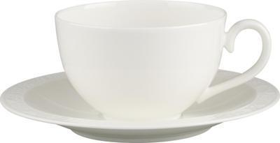 Raňajková šálka 0,40 l s podšálkou White Pearl