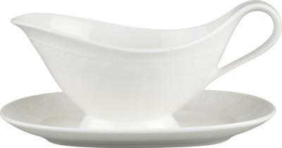 Omáčnik 0,40 l s tanierikom White Pearl