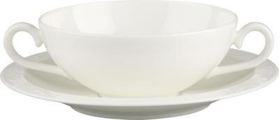 Polievková šálka 0,40 l s tanierikom White Pearl - 1