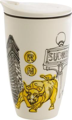 Hrnček na kávu so sebou 0,35 l NY Cities of. World - 1