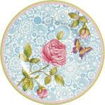 Dezertný tanier, modrý 22 cm Rose Cottage - 1/2
