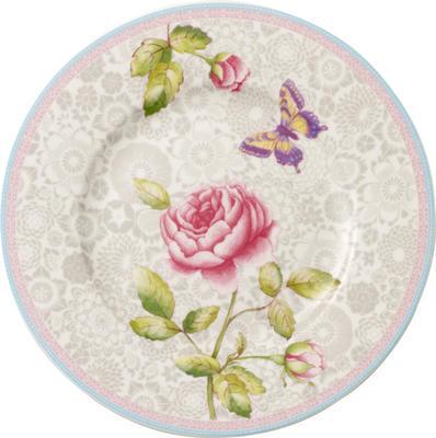 Dezertný tanier, sivý 22 cm Rose Cottage - 1