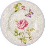 Dezertný tanier, sivý 22 cm Rose Cottage - 1/2