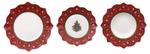 Vianočná obedová súprava, ČERV 18 ks Toy's Delight - 1/2