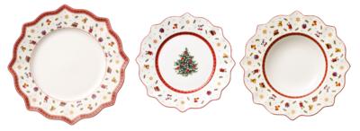 Vianočná obedová súprava, BIEL 18 ks Toy's Delight - 1