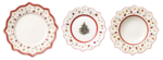 Vianočná obedová súprava, BIEL 18 ks Toy's Delight - 1/2