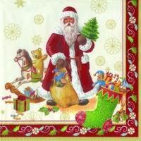 Servítky, Santa s darčekmi, veľké Winter Specials