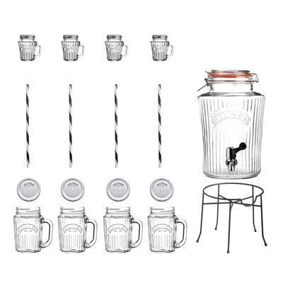 Súprava VINTAGE, nápojový automat, džbániky Kilner - 1