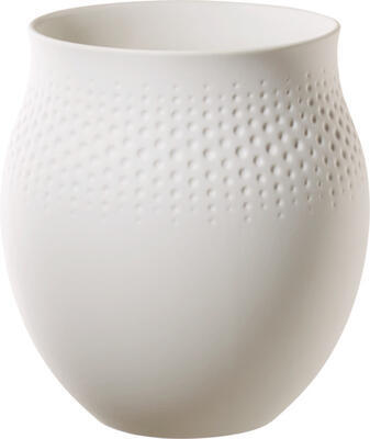 Veľká váza, Perle, 17,5 cm Manufact. Collier blanc - 1