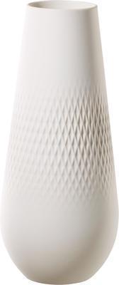 Vysoká váza Perle 26 cm Collier blanc