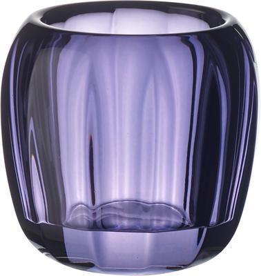Svietnik na čajovú sviečku, svetlofialový Col. D. - 1