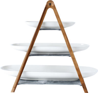 Drevený stojan s miskami, 4 ks Artesano Original - 1