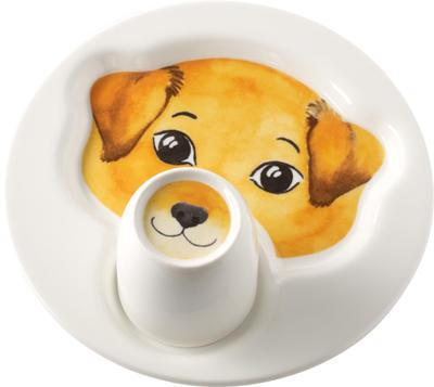 Detský tanier s hrnčekom, pes Animal Friends - 1