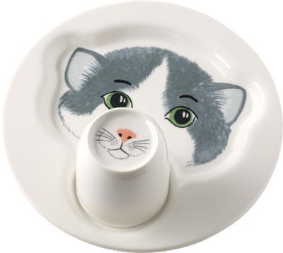 Detský tanier s hrnčekom, mačka Animal Friends - 1