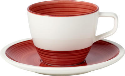 Kávová šálka 0,25 l s podšálkou Manufacture rouge - 1