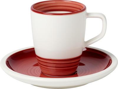 Espresso šálka 0,10 l s podšálkou Manufact. rouge - 1