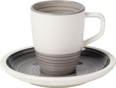 Espresso šálka 0,10 l s podšálkou Manufacture gris - 1