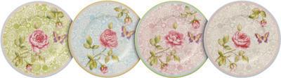 Súprava dezertný tanierov, 4 ks Rose Cottage - 1