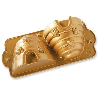 Forma na bábovku, včelí úľ, zlatá Nordic Ware - 1