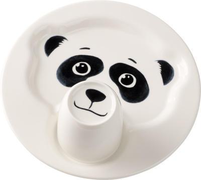 Detský tanier s hrnčekom, panda Animal Friends - 1
