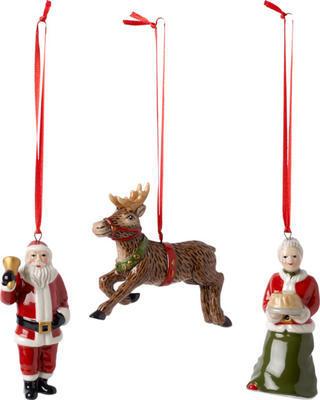 Závesný Santa a jeho pani, sob, 3 ks No. Ornaments - 1