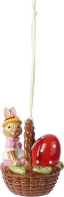 Závesná ozdoba - košík, Anna 6 cm Bunny Tales