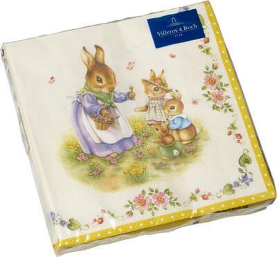Servítky, rodina zajkov, veľké Easter Accessoires