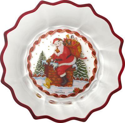 Misa, Santa s darčekmi, 25 cm Christmas Glass Acc. - 1