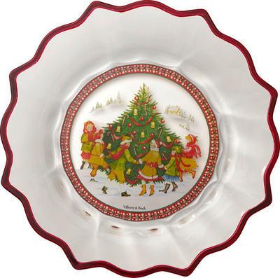 Veľká miska, deti, 25 cm Christmas Glass Access. - 1