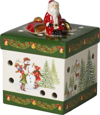 Svietnik, hranatý darček 9 cm Christmas Toys - 1