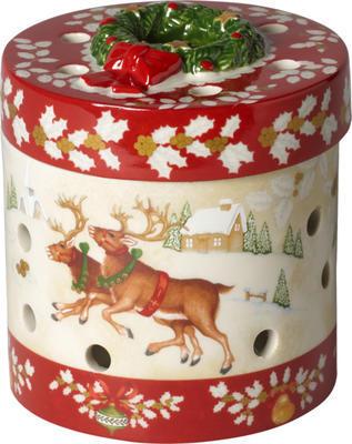 Svietnik, okrúhly darček 9,5 cm Christmas Toys - 1