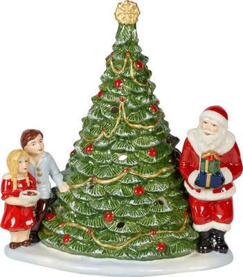 Svietnik, Santa pri stromčeku 23 cm Christmas Toys - 1