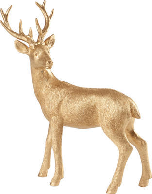 Dekorácia, zlatý jeleň 22 cm Winter Collage Acces.