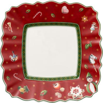 Červený hranatý tanier na chlieb/maslo 17 cm TD - 1