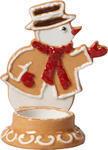 Svietnik, snehuliak 7 x 11 cm Winter Bakery Decor. - 1/2