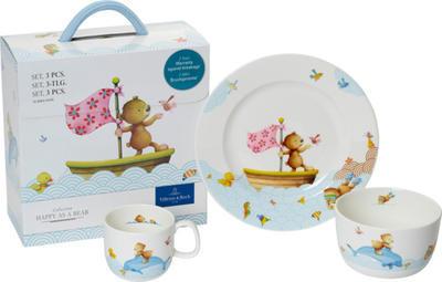 Detská jedálenská súprava, 3 ks Happy as a Bear - 1