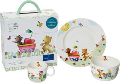 Detská jedálenská súprava, 3 ks Hungry as a Bear - 1