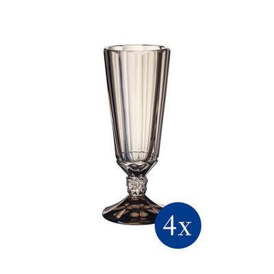 Pohár na šampanské 0,14 l, 4 ks Opéra Smoke - 1