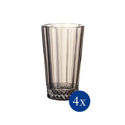 Vysoký pohár 0,34 l, 4 ks Opéra Smoke - 1