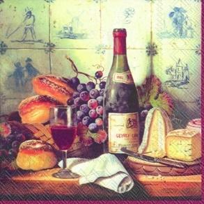 Servítky, víno a syr, veľké IHR