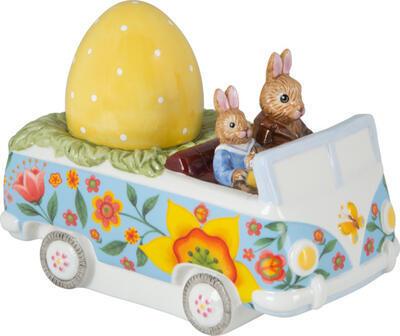 Dekorácia, veľkonočný autobus 14 cm Bunny Tales - 1