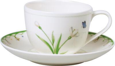Kávová šálka 0,23 l s podšálkou Colourful Spring - 1