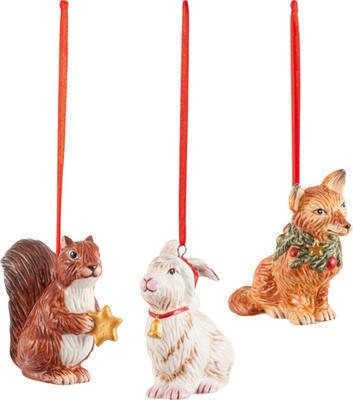 Závesné ozdoby, zvieratká, 3 ks Nostalg. Ornaments - 1