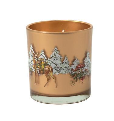 Svietnik, jeleň v lese 7,5 cm Winter Specials