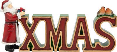 Písmená XMAS 29,5 cm Winter Collage Accessoires